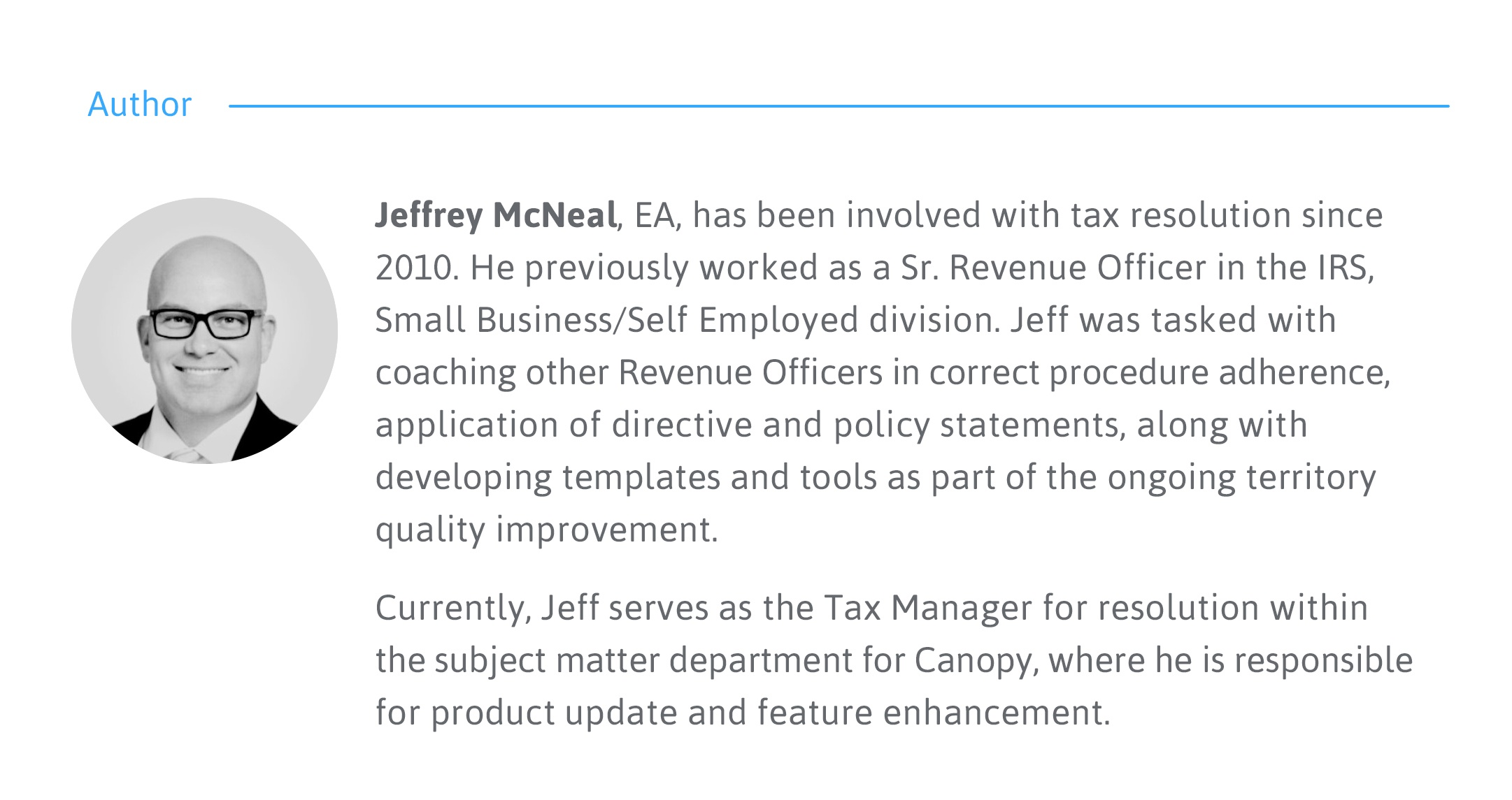 Jeffrey McNeal Former IRS Agent