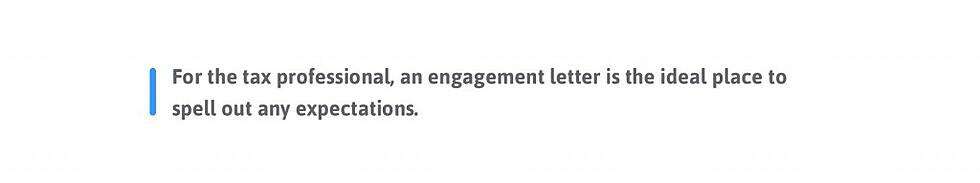 engagement letter expectations